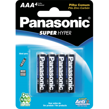 Pilhas Panasonic Zinco...